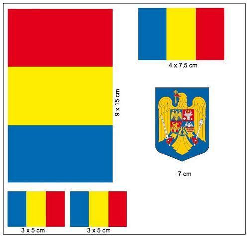 Fahnen Aufkleber Set Rumänien