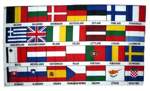 fahne  flagge europa 28 länder  europa  nationalflaggen