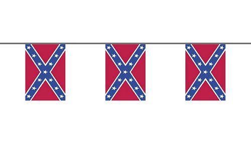 Flaggenkette Südstaaten 6 m