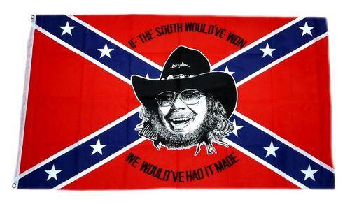 Fahne / Flagge Südstaaten - Hank Williams 90 x 150 cm