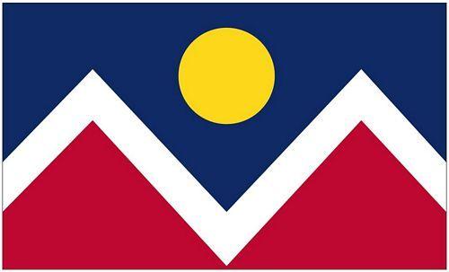 Fahne / Flagge USA - Denver 90 x 150 cm