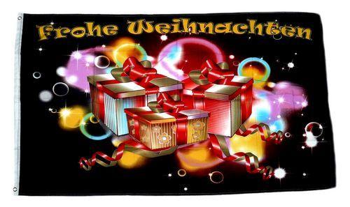 Fahne / Flagge Frohe Weihnachten Präsente 90 x 150 cm