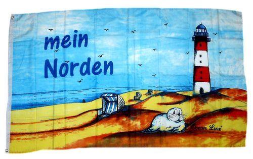 Fahne / Flagge Leuchtturm Mein Norden 90 x 150 cm