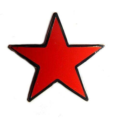 Pin Stern rot Anstecker NEU Anstecknadel