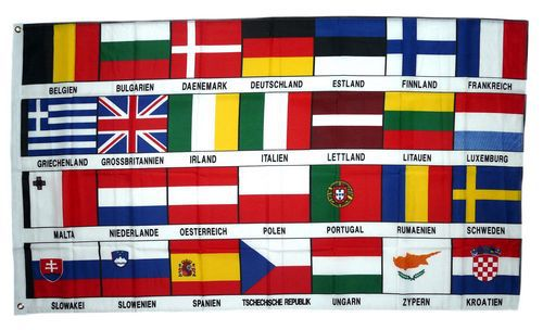 Fahne Fahnen Flagge Europa 25 Sterne Neu 90 x 150 cm
