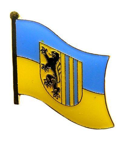 Flaggen Pin Leipzig NEU Fahne Flagge Anstecknadel