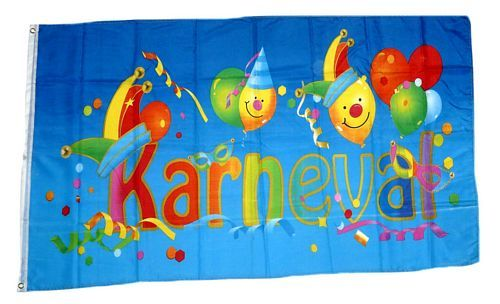 Fahne / Flagge Karneval Fasching Kids 90 x 150 cm