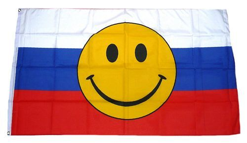 Fahne / Flagge Russland Smile 90 x 150 cm