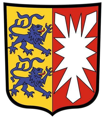 Wappenschild Aufkleber Sticker Schleswig Holstein