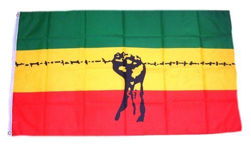 Fahne / Flagge Äthiopien Stacheldraht 90 x 150 cm