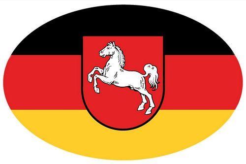 Autoaufkleber Wappen Sticker Niedersachsen