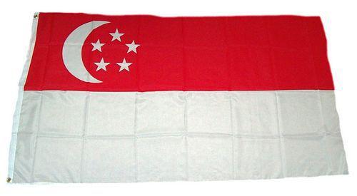 Flagge / Fahne Singapur Hissflagge 90 x 150 cm