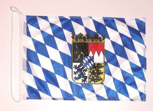 Bootsflagge Freistaat Bayern Wappen 30 x 45 cm