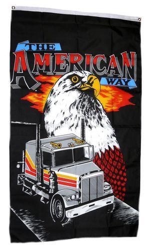Fahne / Flagge USA - Truck American Way 90 x 150 cm
