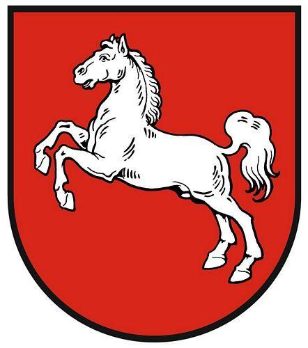 Wappenschild Aufkleber Sticker Niedersachsen