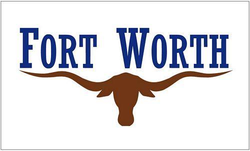 Fahne / Flagge USA - Fort Worth 90 x 150 cm