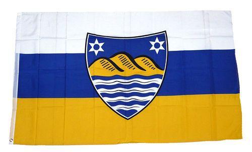 Flagge / Fahne Juist Wappen Hissflagge 90 x 150 cm