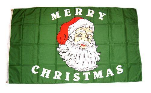 Fahne / Flagge Weihnachtsmann Merry Christmas 90 x 150 cm