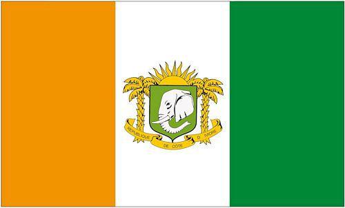 Flagge / Fahne Elfenbeinküste Wappen Hissflagge 90 x 150 cm