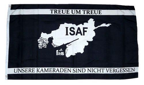 Fahne / Flagge ISAF Afghanistan Treue 90 x 150 cm