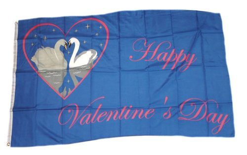 Fahne / Flagge Happy Valentins Day Valentinstag 90 x 150 cm