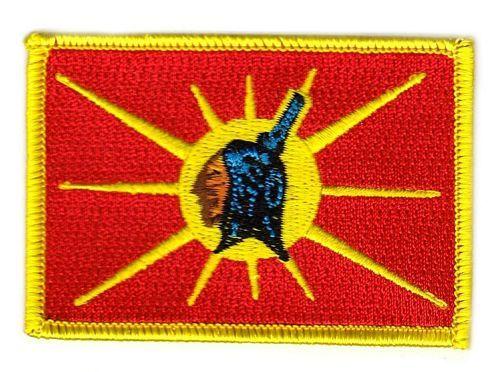 Fahnen Aufnäher Indianer - Oka Mohawk
