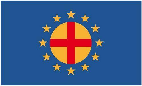 Fahne / Flagge Paneuropa Union 90 x 150 cm