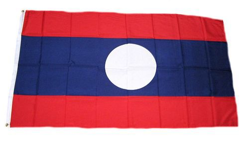 Flagge / Fahne Laos Hissflagge 90 x 150 cm