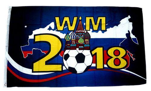 Fahne / Flagge WM 2018 Russland 90 x 150 cm