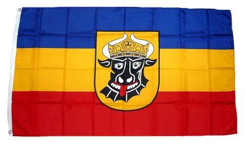 Fahne / Flagge Mecklenburg Ochsenkopf 150 x 250 cm