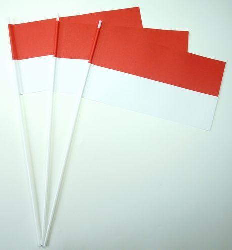 10 Papierfähnchen rot / weiß Papierfahnen Fahne Flagge