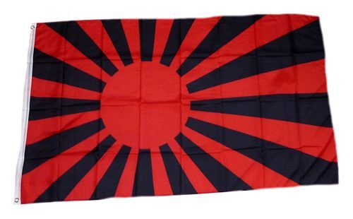 Fahne / Flagge Rising Sun rot / schwarz 90 x 150 cm