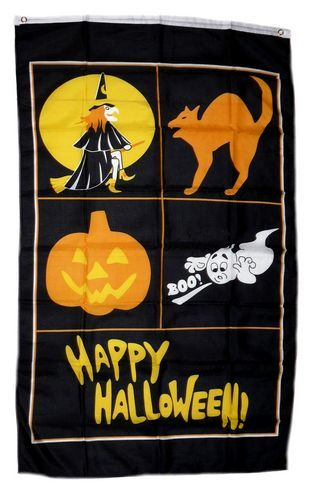 Fahne / Flagge Happy Halloween Banner 90 x 150 cm