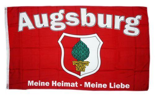 Fahne / Flagge Augsburg Meine Liebe 90 x 150 cm