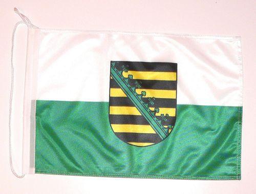 Bootsflagge Sachsen 30 x 45 cm