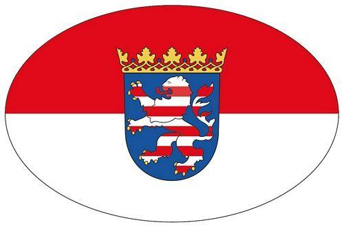 Wappen Aufkleber Sticker Hessen