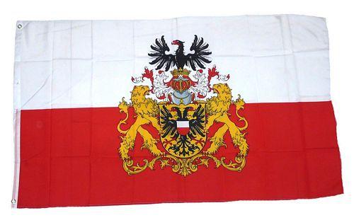 Flagge / Fahne Lübeck Prachtwappen Hissflagge 90 x 150 cm