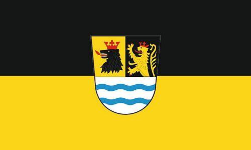 Fahne / Flagge Landkreis Neuburg Schrobenhausen 90 x 150 cm