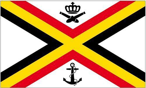 Fahne / Flagge Belgien Seekriegsflagge 90 x 150 cm