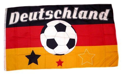 Fahne / Flagge Deutschland Fußball 10 90 x 150 cm