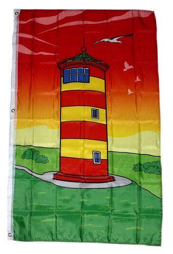 Fahne / Flagge Leuchtturm Pilsum 90 x 150 cm