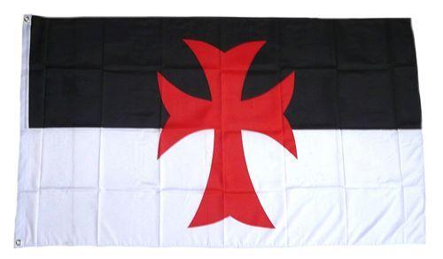 Fahne / Flagge Kreuz Templer 90 x 150 cm