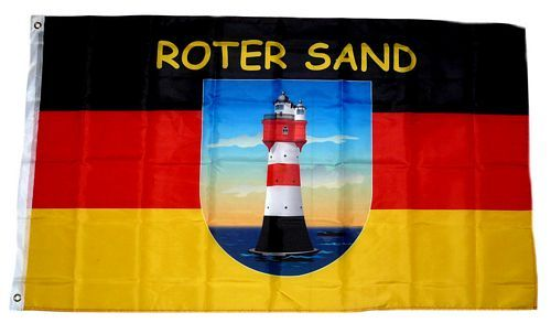 Fahne / Flagge Leuchtturm Roter Sand 90 x 150 cm