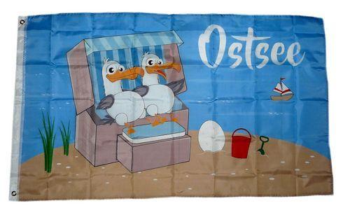 Fahne / Flagge Ostsee Möwen 90 x 150 cm