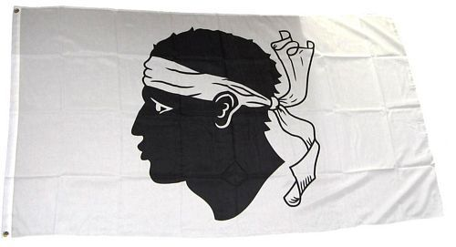 Fahne / Flagge Frankreich - Korsika 150 x 250 cm