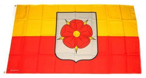 Fahne / Flagge Lippe Rose Detmold 90 x 150 cm