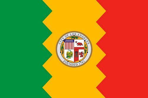Fahne / Flagge USA - Los Angeles 90 x 150 cm