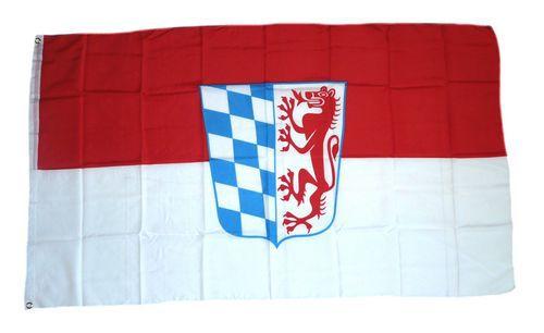 Flagge / Fahne Niederbayern Hissflagge 90 x 150 cm