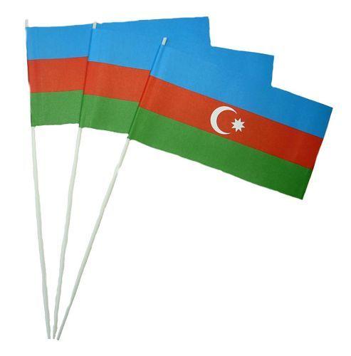 Papierfahnen Aserbaidschan