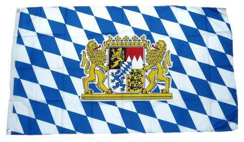 Flagge / Fahne Freistaat Bayern Löwen Hissflagge 90 x 150 cm